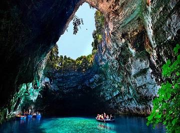 غار ملیسانی در یونان یکی از زیباترین غارهای جهان